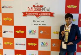 _Child Innovator Award_ at the 5th Dialogue India Academic Conclave 2019- Dubai